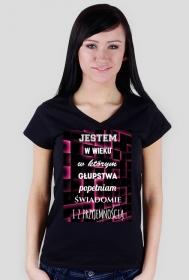 Koszulka głupstwa w kolorze dla Niej