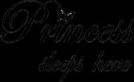 POSZEWKA Princess sleep here ♥