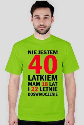 Koszulka na 40-ste urodziny