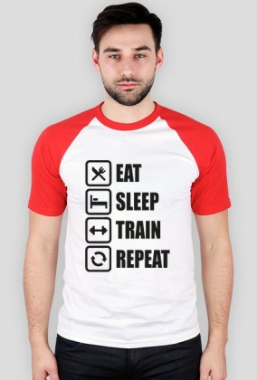 Koszulka Eat sleep train repeat!