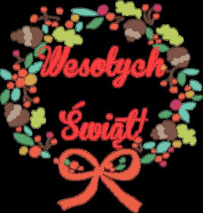 Miś Wesołych świąt
