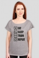 Koszulka Eat sleep train repeat!