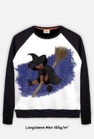 Mała Czarownica - Little Witch - duża bluza full print z mniejszym nadrukiem