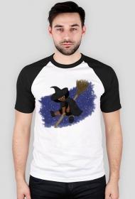 Mała Czarownica - Little Witch - duża koszulka z czarnymi rękawami