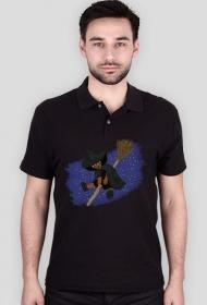 Mała Czarownica - Little Witch - duża koszulka polo