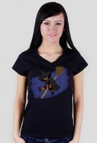 Mała Czarownica - Little Witch - koszula v-neck (w serek)