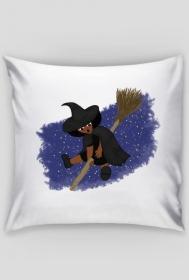Mała Czarownica - Little Witch - poszewka na poduszkę