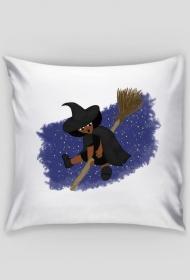 Mała Czarownica - Little Witch - poszewka na poduszkę z obustronnym nadrukiem