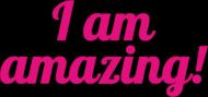 I Am Amazing - lusterko w kształcie serca