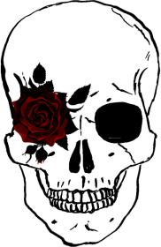 Czaszka z różą torba