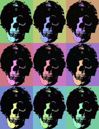 Skull Pop Art - koszulka męska