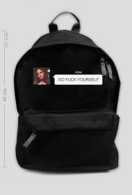 "Plecak 42cm ""go fuck yourself"""