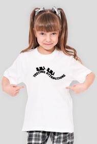 T-Shirt Dziewczęcy Testing Attractions