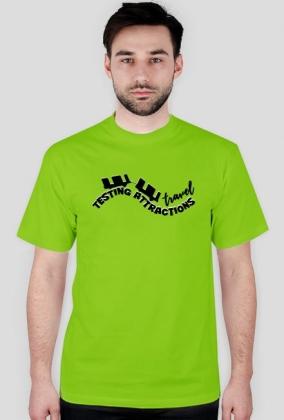 T-Shirt Męski Testing Attractions Travel