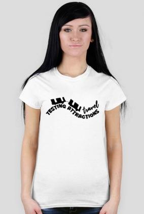 T-Shirt Damski Testing Attractions Travel