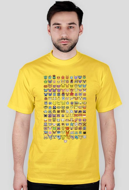 Koszulka pokemon go 1 generacja - meska
