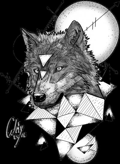 Koszulka wilk wilczek trójkąt