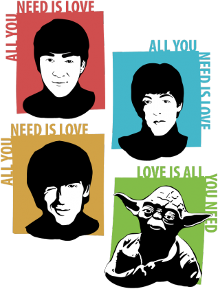 Love is all you need Yoda Star Wars k