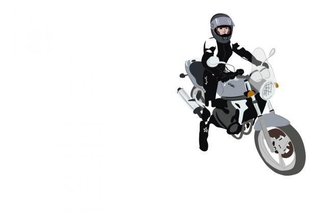 Ja motocyklistka