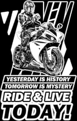 Ride and live today bluza damska na motor