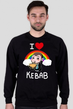 I love kebab Bartek - Biały Napis