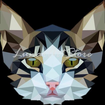 Bluza męska Kot geometryczny Cat