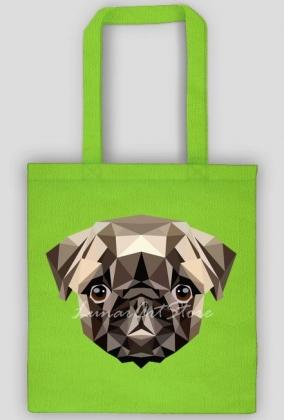 Eco Bag, Torba na zakupy z mopsem, mops, PUG