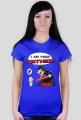 GeekWear - Smerf Wars, Smerfy, Smurfs,  Star Wars, Gwiezdne Wojny, Vader - koszulka damska