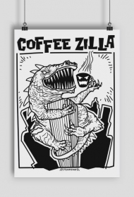 Coffee Zilla plakat