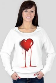 "bluza "" Krwąwiące serce"""