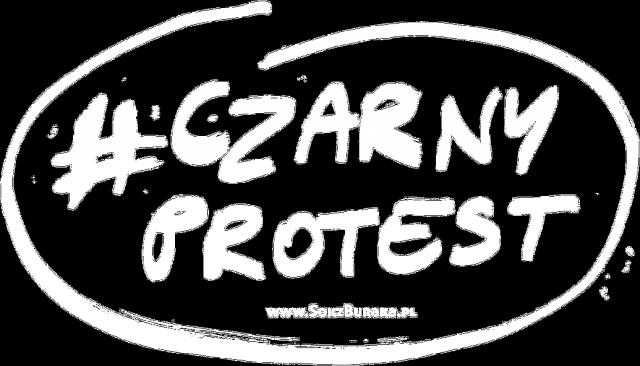ZNACZEK CZARNY PROTEST