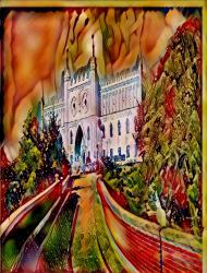 Zamek - malowidło.