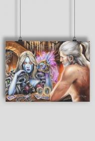 Geralt vs Sylvanas Plakat