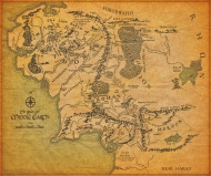 Portfel Mapa Śródziemia (Map of the Middle-Earth)