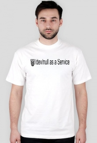 /dev/null as a Service Black Text