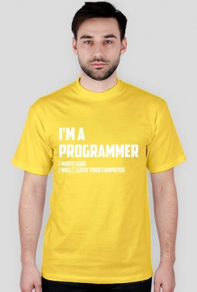 I'm a programmer - i write code - i will not fix your computer