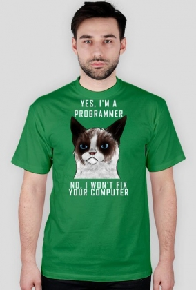 Grumpy Cat Jestem Programistą