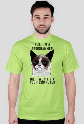 Grumpy Cat Jestem Programistą Black Font