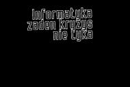 Informatyka żaden kryzys nie tyka (t-shirt) ciemna grafika