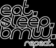 Eat Sleep BMW v4 (t-shirt) dark image