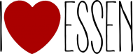 I Love Essen (t-shirt) ciemna grafika