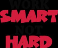 Work Smart Not Hard v7 (t-shirt) ciemna grafika