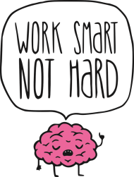 Work Smart Not Hard v8 (t-shirt) ciemna grafika