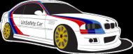 BMW M3 UnSafety Car (t-shirt) dark image