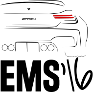 GTRS4 EMS 16 (t-shirt) ciemna grafika