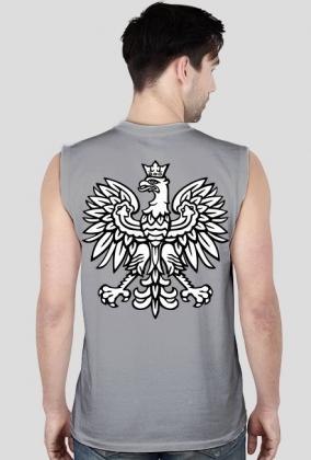 Polski Orzeł Biały (bezrękawnik męski) jasna grafika tył