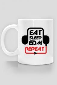 Eat Sleep EDM Repeat Kubek