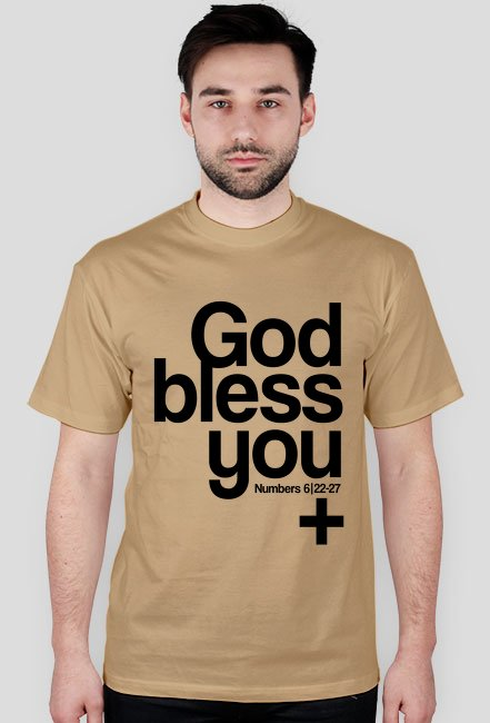 God Bless You / t-shirt męski