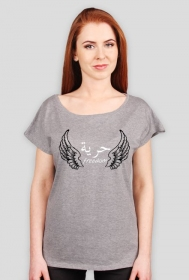 Freedom Wings Grey Arabic Tshirt