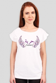 Freedom Wings Purple Arabic Tshirt